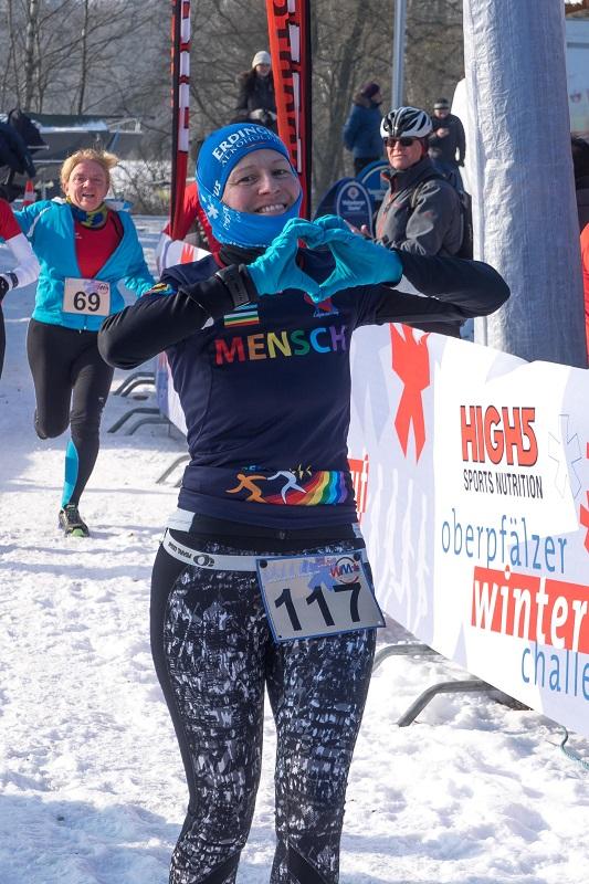 Birgit Greger - Winterlauf Challenge Steinberger See 2017