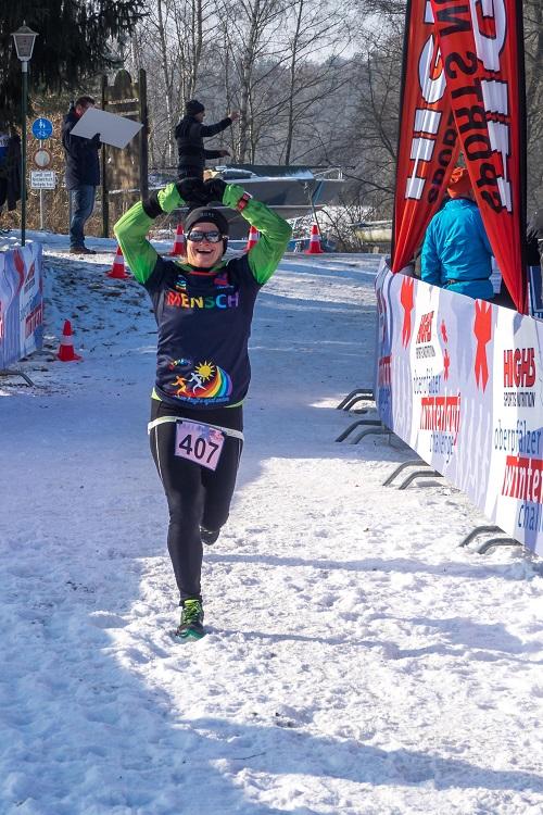 Simone Wittmann - Winterlauf Challenge Steinberger See 2017