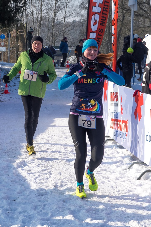 Sonja Majunke - Winterlauf Challenge Steinberger See 2017