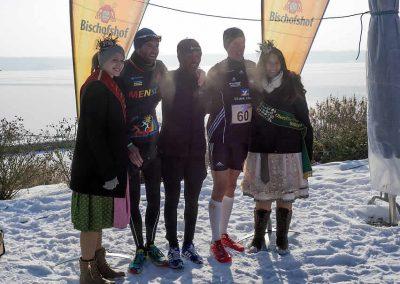 Winterlauf-Challenge Steinberger See 2017 - die ersten 3 Männer