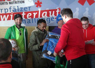 Winterlauf-Challenge Steinberger See 2017 - Siegerehrung