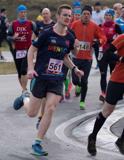 OWinterlauf-Challenge Murner See 2017 Läufer mit Herz