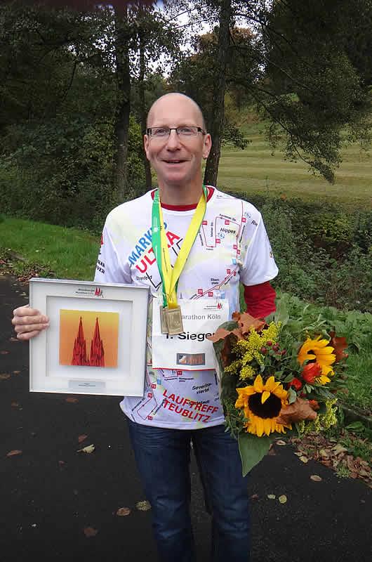 Markus Rajzer - Ultramarathon Köln 1. Platz