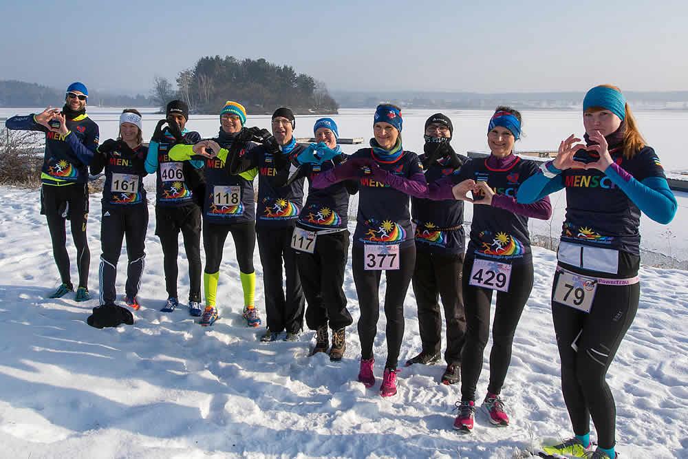 Winterlauf-Challenge Steinberger See 2017 - Läufer mit Herz