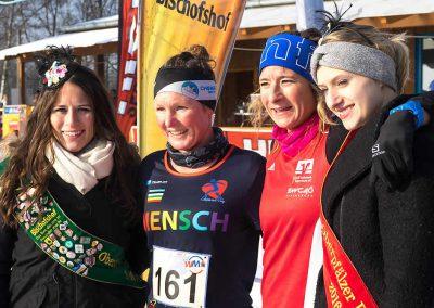 Winterlauf-Challenge Steinberger See 2017 - die ersten 2 Frauen