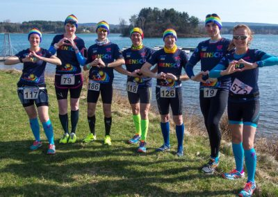 Läufer mit Herz beim Finale der Winterlauf-Challenge am Steinberger See